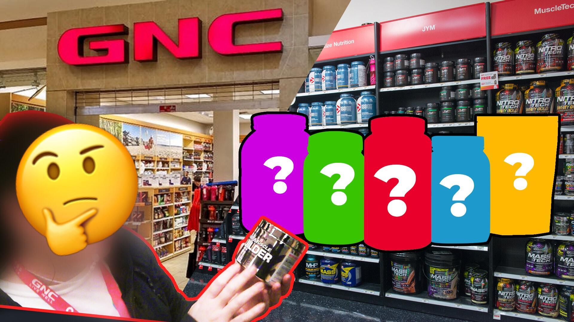 asking a gnc employee what supplements i should buy to get
